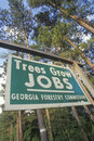 Trees grow jobs sign Stock Images