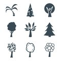 Trees icon Royalty Free Stock Photo