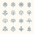 Trees icon set Royalty Free Stock Photo
