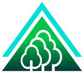 Trees logo Stock Photography