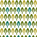 Trees pattern, floral card, floral background Royalty Free Stock Photos