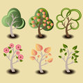 Trees set illustration group of to create your own forrest these are easy to edit and easily grouped Royalty Free Stock Photos