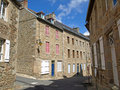 Treguier Village Centre 2 Royalty Free Stock Photo