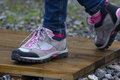 Treking shoes  outdoors Stock Image