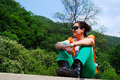 Trekker in Herculane Royalty Free Stock Photo