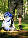 Trekking backpack Stock Image