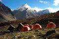 Trekking camp Royalty Free Stock Photo