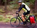 Trekking cyclist Royalty Free Stock Photo