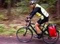 Trekking cyclist Royalty Free Stock Photo