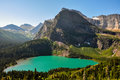 Trekking in Grinnel Lake Trail, Glacier National Park, Montana, Royalty Free Stock Photo