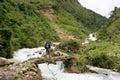 Trekking in mountains peru south america salkantay Stock Photos