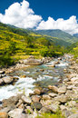 Trekking in Nepal Stock Photo