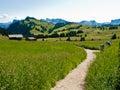 Trekking path in Italian Alps Royalty Free Stock Photo
