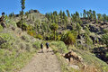 Trekking route soria one from most popular entertainment for active tourists in gran canaria island canary island spain Stock Photo
