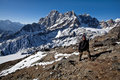 Trekking in Sagarmatha area, Eastern Nepal Royalty Free Stock Images
