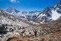 Trekking in Sagarmatha national park, Nepal Stock Image