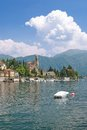 Tremezzo lake como italy village of at italian district Royalty Free Stock Photography