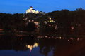 Trencin at sunset