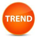 Trend elegant orange round button