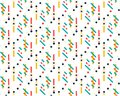 Future geometric pattern. Simple geometric composition of figures. Hipster colors. Original fashionable design. Vector template