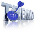 Trend high resolution d rendering of a icon Royalty Free Stock Photo