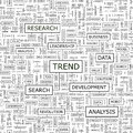 Trend seamless pattern word cloud illustration Royalty Free Stock Images