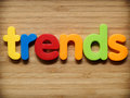 Trends concept in colorful letters Royalty Free Stock Image
