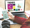 Trends Design Fashion Marketing Modern Style Concept Royalty Free Stock Photo