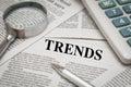 Trends headline Royalty Free Stock Photo