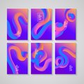 Trendy abstract covers. Futuristic design posters. Liquid color shapes for composition backgrounds. Vector illustration Royalty Free Stock Photo