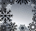 Trendy black snowflakes Stock Images