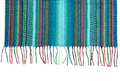 Trendy blue striped scarf closeup isolate on white Royalty Free Stock Image