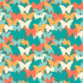 Trendy colors butterfly seamless pattern. Suitable for textiles, wrapping paper, cover, web background and other. Vector illustrat Royalty Free Stock Photo