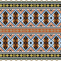Trendy, contemporary ethnic seamless pattern, embroidery cross, squares, chevrons.