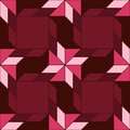 Trendy decorative seamless pattern with different geometrical shapes of amaranth, burgundy and pink shades Royalty Free Stock Photo