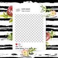 Trendy editable template for social networks stories