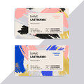 Trendy elegant business card templates. Modern luxury beauty sal