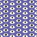 Trendy fashion pattern with eyes.