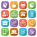 Trendy flat business and finance icon set 1 Vector Royalty Free Stock Photo
