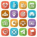 Trendy flat business and finance icon set 2 Vector Royalty Free Stock Photo