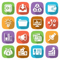 Trendy flat business and finance icon set 3 Vector