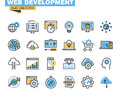 Trendy flat line icon pack for designers and developers Royalty Free Stock Photo