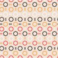 Trendy hand drawn line circle round shape seamless pattern vector design for fashion ,fabric, wallpaper and all prints