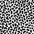 Trendy memphis style seamless pattern inspired by 80s, 90s retro fashion design. Black and white hipster backdrop