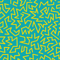 Trendy memphis style seamless pattern inspired by 80s, 90s retro fashion design. Colorful festive hipster background