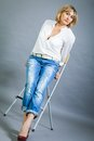Trendy middle-aged woman with a charming smile Royalty Free Stock Photo