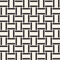 Trendy monochrome twill weave Lattice. Abstract Geometric Background Design. Vector Seamless Pattern.