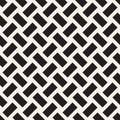Trendy monochrome twill weave Lattice. Abstract Geometric Background Design. Vector Seamless Pattern.