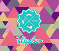 Trendy retro hipsters label icons seamless pattern unusual vintage hipster badge elements background vector file layered for easy Stock Photography