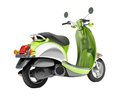 Trendy retro scooter close up green on a light background Royalty Free Stock Photos